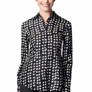 CAbi Polka Dot Long Sleeve Blouse Style #664